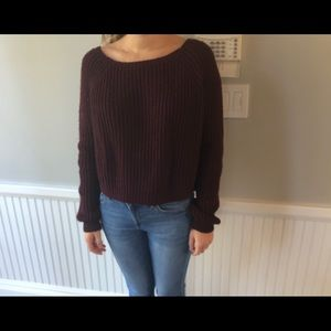 Brandy Melville Maroon Sweater